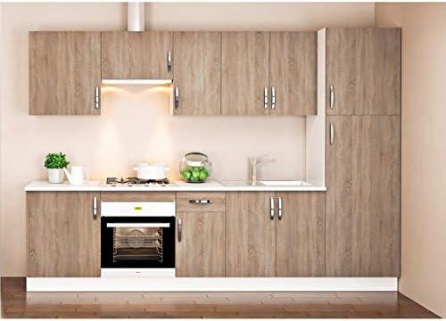 MD BLOCK - Cocina Completa con despensero zócalo y encimera - Roble: Amazon.es: Hogar