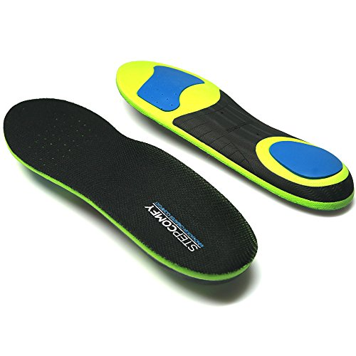 Stepcomfy Shoe Insoles Orthotic for Flat Feet,Full length Athletic Arch Support Inserts Insoles for Men and Wowen Running Shoes, Dress Shoes or Work Boots, EVA & TPU Top Cloth