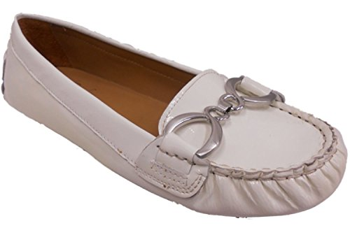 Franco Sarto A-Milicent Leather Ballet Flats (4.5, Ice Patent)
