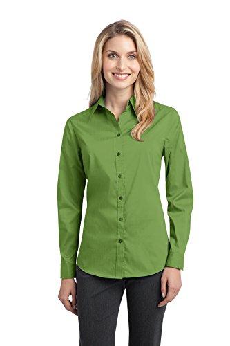 Maternity Poplin Blouse (Port Authority Women's Stretch Poplin Shirt XL Wintergreen)