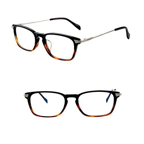 HUFU Vintage Round Oval Circle Prescription Eyewear Eyeglasses Frame with Clear Lenses (black brown, - Eyeglasses Plano
