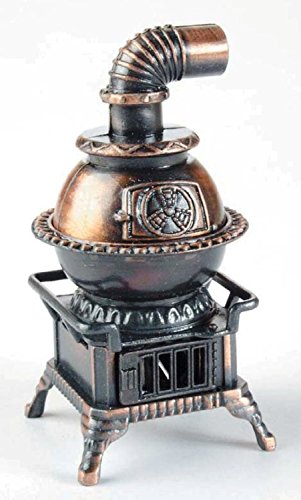 Pot Belly Stove Die Cast Metal Collectible Pencil Sharpener