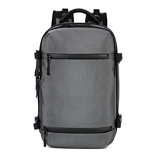 New Multi-functional Men's Backpack Business Laptop Backpacks Large Capacity Waterproof Travel Backpack School Bag (Small Light Grey)