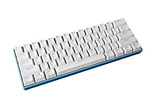 Mechanical Gaming Keyboard - Royal Kludge RK-61 Rainbow Backlit - Dual Wired / Bluetooth [Khail Blue Switch] [Blue casing / White keycaps]