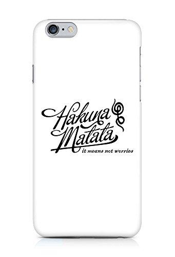 COVER Hakuna matata Schriftzug Kalligrafie schwarz weiss Design Handy Hülle Case 3D-Druck Top-Qualität kratzfest Apple iPhone 6 Plus