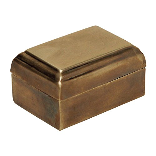 (Time Concept Handcrafted Antique Relief Small Brass Box - Accessories Storage, Home Decor - W3