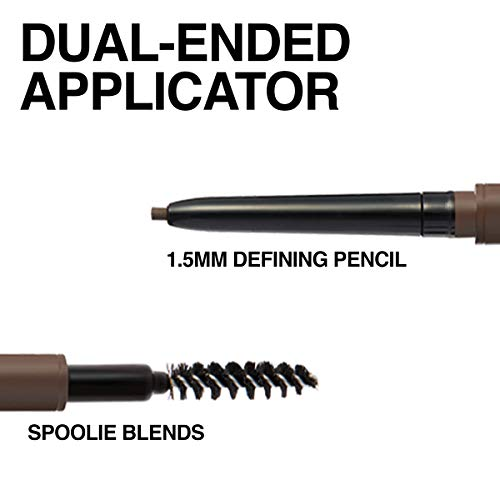Maybelline Brow Ultra Slim Defining Eyebrow Makeup Mechanical Pencil with 1.55 MM Tip & Blending Spoolie For Precisely…