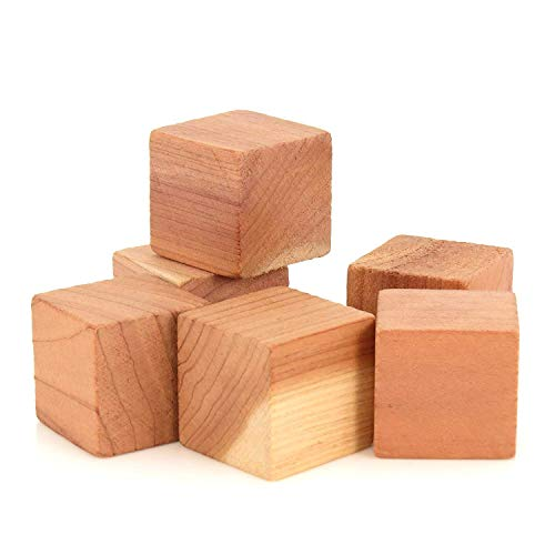 Office Unfinished Armoire - 50 Pack Cedar Cubes Cedar Balls for Closet and Drawers Protection Fresh Storage