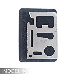 Aspire Credit Card Bottle Opener, 11 Function Survival Pocket Tool, Fits In Your Wallet - Model 5