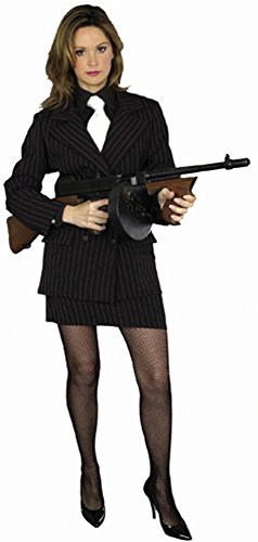 Adult Gangster Moll Costume (Size:Plus Size 18-24)