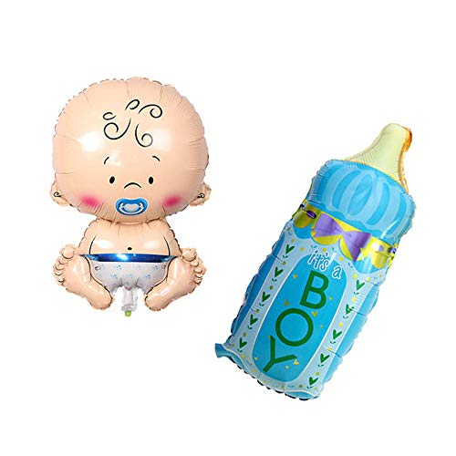 Huture Welcome Baby Boy Shape Foil Balloon Size(17