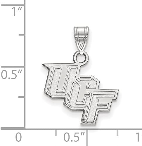 Central Florida Knights School Letters Logo Pendant in Sterling Silver 14x16mm