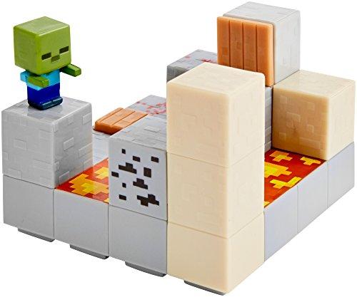 Minecraft Mini Figure Piston Push Environment Set