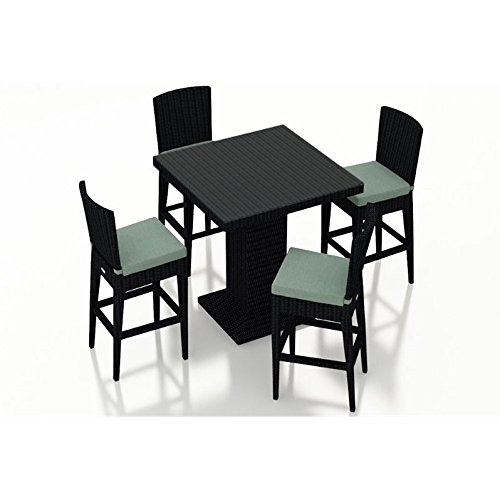 Harmonia Living Urbana 5 Piece Bar Chair Set, Canvas Spa by Harmonia Living (Image #2)