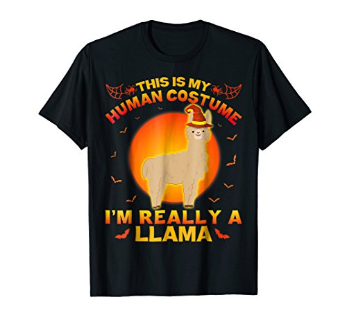 I'm Really A Llama T-Shirt This Is My Human Costume Alpaca -