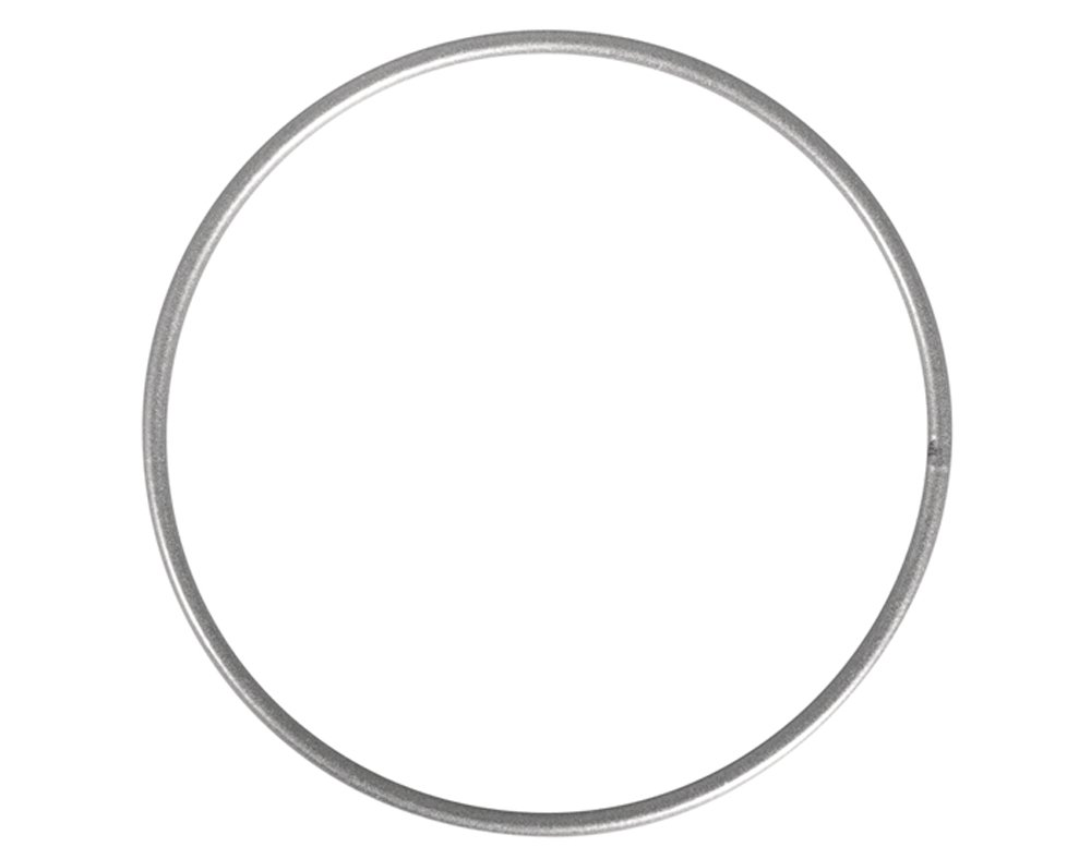 Metal Wire /& Craft Hoops 20cm Matt Silver Metal Ring for Crafts