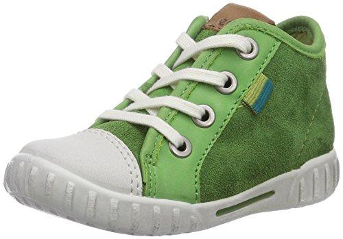 Ecco Mimic - Zapatos primeros pasos de piel para niña verde - Grün (ShadowWhite/Cactus Sambal/Suede58964)