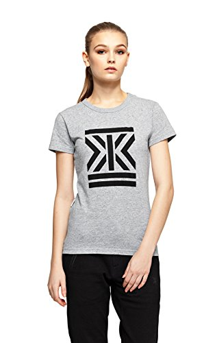 OnePiece P-TE15002 - Camiseta Mujer, Gris (Grey Mel), Large (Talla del fabricante: Large)