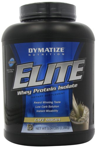 Dymatize Nutrition Elite Whey Protein Powder, Cafe Mocha, 5.04 Pound