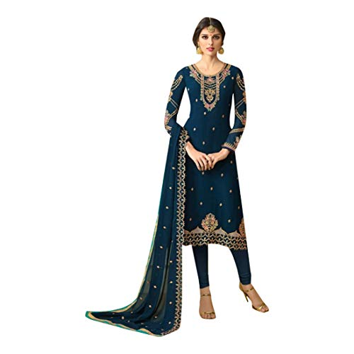 Hochzet EMPORIUM Bollywood abito Kamiz pizzo Kameez Dress sposa da 745 pantaloni donna dritto Georgette pakistano Mens ETHNIC terzo Indiano Salwar signore Dress ragazze dxzdXqZ