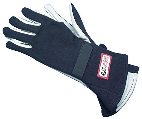 NEW PAIR OF RJS X-LARGE BLACK SINGLE LAYER NOMEX DRIVING GLOVES, RACING GLOVES HAVE SFI SPEC OF 3.3/1, COMFORTABLE, DURABLE, AND SAFE FOR THE RACER, GREAT FOR NUMEROUS TYPES OF RACING AND OFF-ROAD APPLICATIONS
