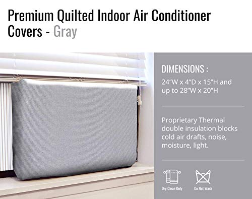 Gerrard Larriett Aromatherapy Pet Care Premium Quilted Indoor Air Conditioner Covers for Window Units 24