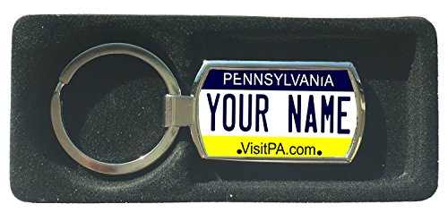 BleuReign(TM) Personalized Custom Name Pennsylvania State License Plate Metal ()