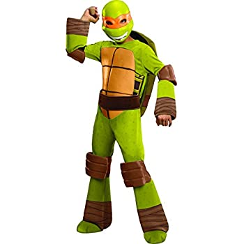 Teenage Mutant Ninja Turtles Deluxe Michelangelo Costume Small  sc 1 st  Amazon.com & Amazon.com: Teenage Mutant Ninja Turtles Deluxe Michelangelo Costume ...
