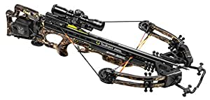 TenPoint Stealth FX4 Crossbow Package with 3x Pro-View 2 Scope, 3 Pro-Elite Carbon Arrows, 3-Arrow Instant Detach Quiver, Ambidextrous Side-Mount Quiver Bracket, and Noise Dampening Package