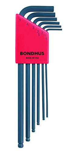 Bondhus 10946 Set of 6 Balldriver L-wrenches, sizes 1.5-5mm (Allen Wrench Metric)