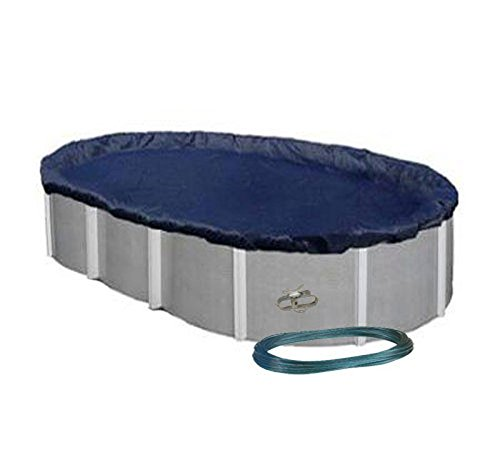 18' x 33' OVAL Economy Aboveground Swimming Pool Winter Cover w/Clips