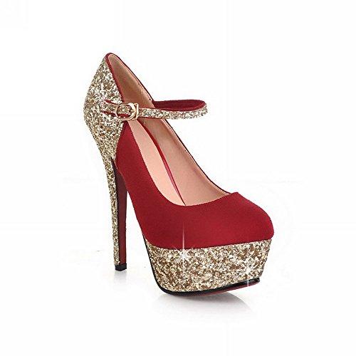 boucle Chaussures couleurs Pompes red assorties Talons Hauts balamasa avec Femme wTnH4xHqI