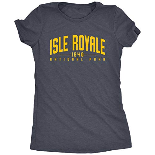 (Isle Royale National Park Women's T-Shirt (Navy Frost, 2X-Large))