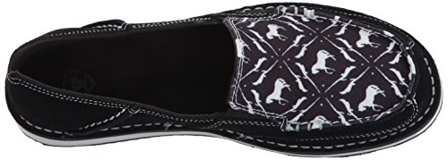 Ariat Womens Kryssare Loafer, Aqua Mocka, 10 B Oss Black / Prancing Ponnyer