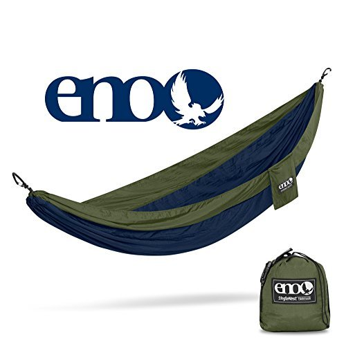 ENO - Eagles Nest Outfitters SingleNest Hammock, Portable Hammock for One, Navy/Olive
