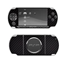Skinomi TechSkin - Sony PSP 3000 Screen Protector + Carbon Fiber Full Body Skin / Front & Back Premium HD Clear Film / Ultra Invisible and Anti Bubble Shield