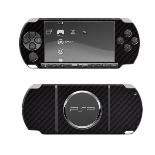 0 Screen Protector + Carbon Fiber Full Body, TechSkin Carbon Fiber Skin for Sony Psp 3000 with Anti-Bubble Clear Film Screen ()