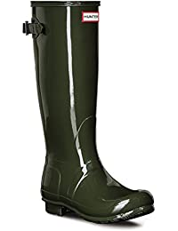 Womens Hunter Original Adjustable Back Gloss Rain Snow Wellington Boot