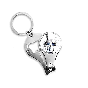 I Love My Dalmatian Nail Clipper Bottle Opener Metal Key Ring New