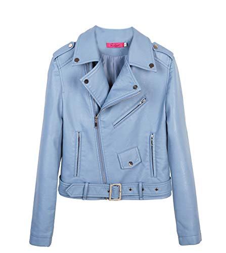 Casual E Di Outerwear Pelle Lunga Tops Cappotto Sottile Moda Giacca Corto  Manica Blouse Autunno Giacche Jacket Coat Azzurro Primavera Donna dBQoCxeWr 257d9964b9a