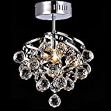 WINGG Generic 5W E27 Crystal Pendant Lamp for Living Room Crystal Chandeliers for Dining-room , Cold White-110-120V #q2622