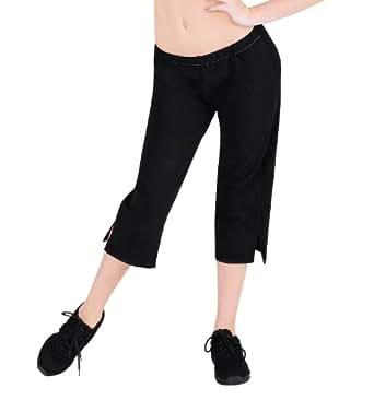 Adult Cotton Capri Pants,N8010BLKS,Black,Small