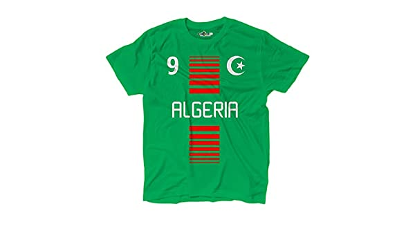 KiarenzaFD Camiseta T-Shirt Hombre Nacional Algerie Argelia 9 ...
