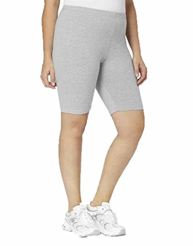A Big Attitude 9557 Bike Short 5x Heather Gray