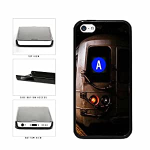Personalized NYC Train Custom Letter A Plastic Phone Case Back Cover Apple iPhone 5c