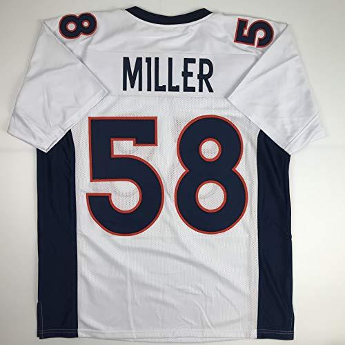 (Unsigned Von Miller Denver White Custom Stitched Football Jersey Size Men's XL New No Brands/Logos )