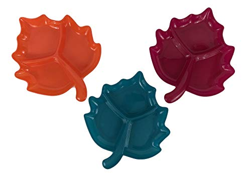 Thanksgiving Fall Leaves Serving Platter/Candy Dish (Set of 3)