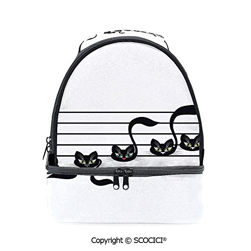 SCOCICI Large Capacity Durable Material Lunch Box Notes