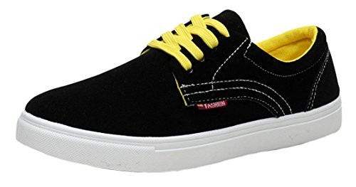 XIAXIAN Summer Man's Suede Vamp Robber Sole Casual Shoes(8 D(M) US, Black)