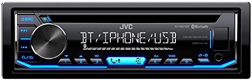JVC KD-RD79BT Single DIN Bluetooth Car Stereo, iPod & Android USB - Stereo Car Face